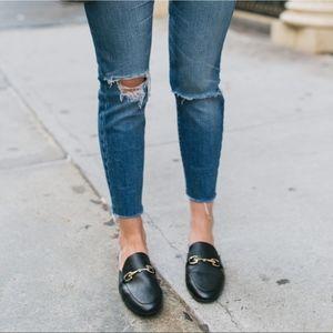 a new day | black kona slip on loafer mules sz 9.5